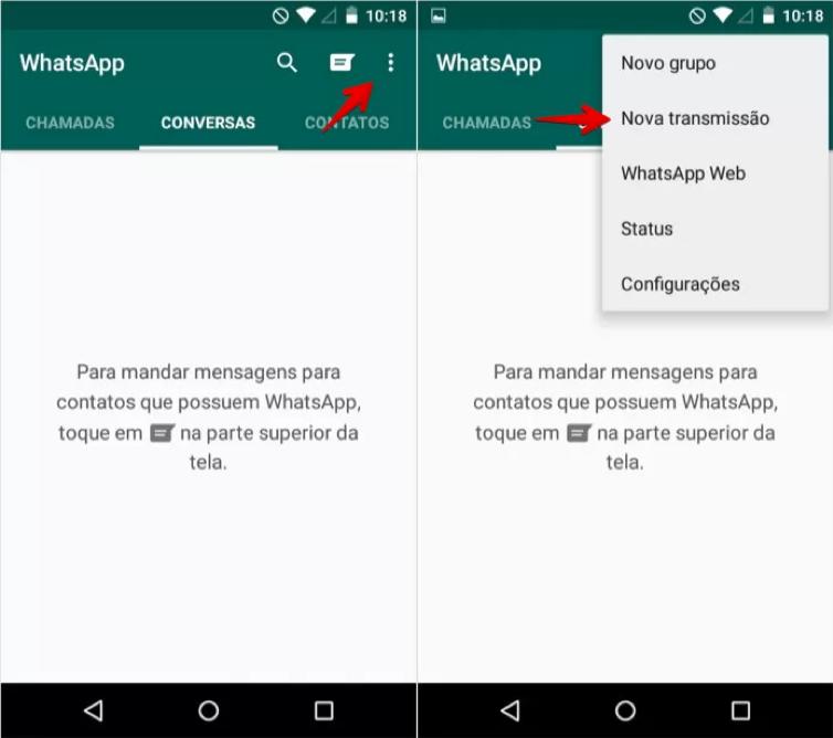 Lista de transmissão WhatsApp para seguros