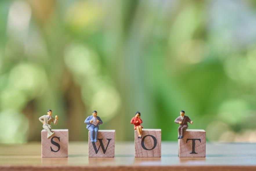 A análise SWOT é composta por: Forças (Strengths), Fraquezas (Weaknesses), Oportunidades (Opportunities) e Ameaças (Threats)