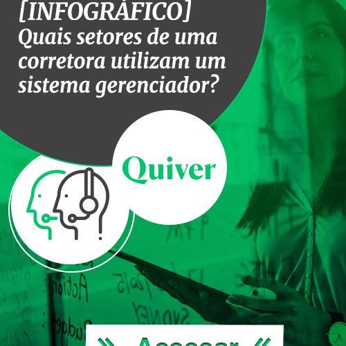 [INFOGRÁFICO] Quais setores de uma corretora de seguros utilizam um sistema gerenciador Quiver